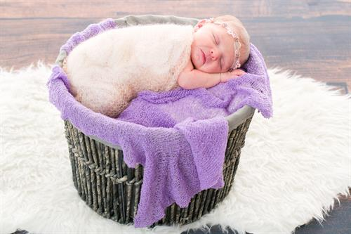 Newborn photos of little girl at Edmonds Portrait Studio