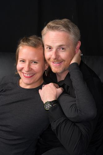 Family portrait photography of newly wed couple in Edmonds Photography Studio