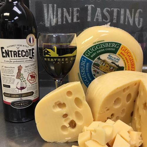 Heather Hill Farm offers Wine and Cheese sampling  daily !