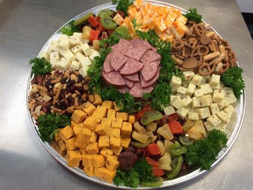 Heather Hill Farms can custom make your Cheese, Meat and Snack Tray for your party needs.