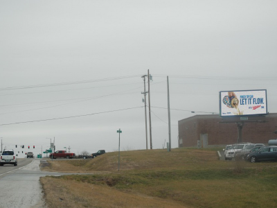 Hwy CC west of US 65, west facing - digital billboard