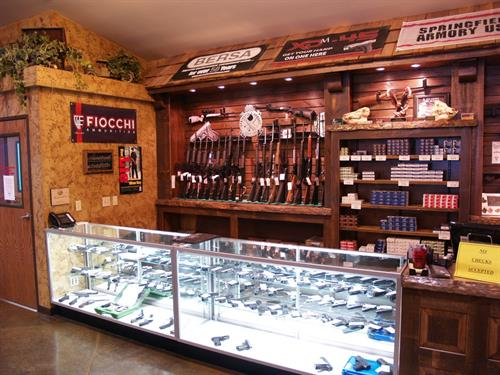 Gun Sales Counter Section 1