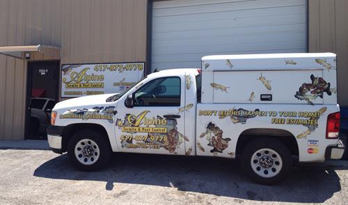 one of the work trucks.