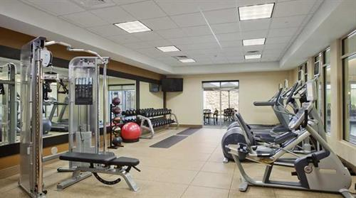 Our fitness center which is open 24/7.
