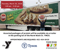 Food Bank of Siouxland Partners with Tyson and the Norm Waitt Sr. YMCA to Provide Protein to Those in Need