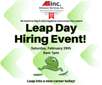 Advance Services Leap Day Hiring Event