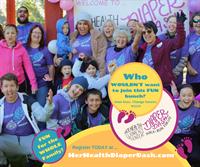 Her Health Women's Center Diaper Dash Walk/Run: 8/12/2019