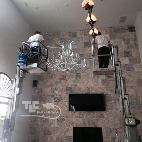 Chandelier Installations - We Go To Great Heights For You