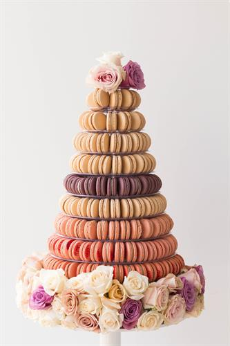 Decorated 10-tier tower