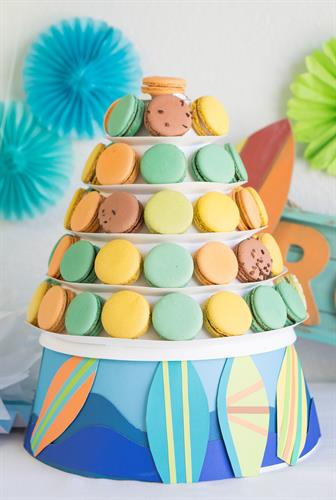 Decorated 5-tier tower
