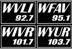 Milner Broadcasting: WVLI 92.7, WFAV 95.1, WIVR 101.7, WYUR 103.7