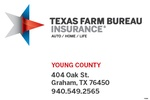 Texas Farm Bureau Insurance Co., Young County