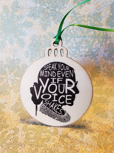 Christmas Ornaments - An infamous staying of Supeme Court Justice Ruth Bader Ginsburg