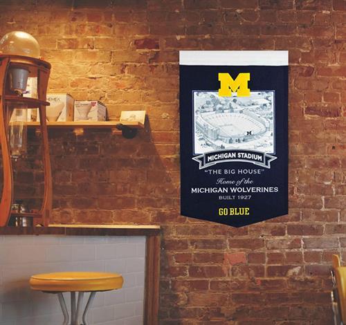 Stadium Banner - Michigan Stadium, fully-licensed indoor use only