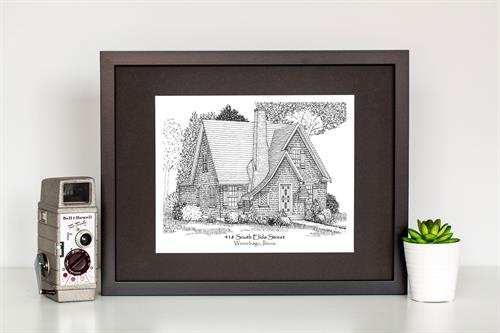 Custom Home Sketch - A celebration of homeowner ship, 50 years!
