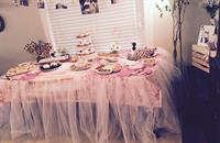 Girl Baby Shower Decoration and candy table