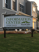 Royal Oaks Exterior Sign Install at Heather Park