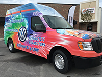 Leith VW of Cary - Parts Van Wrap