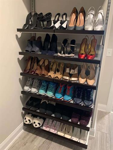 Elfa decor shoe storage
