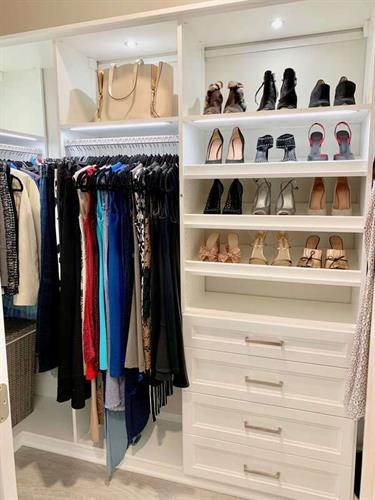 Beautiful master walk-in closet