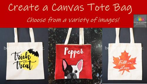 Try some FUNctional art with our TOTE-ally awesome Canvas Bags!