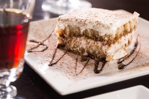 Desserts such as Tiramisu