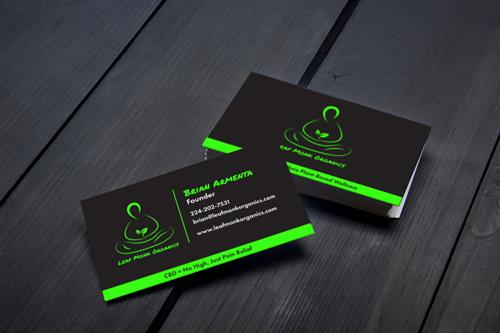 Business Card Design for Leaf Monk