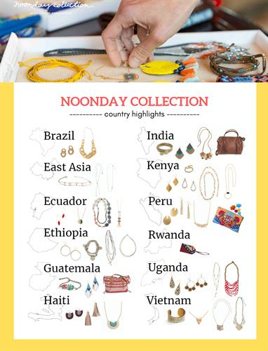 Noonday partners with artisans around the world to create a market place for their fair trade, high quality hand crafted jewlery and bags.