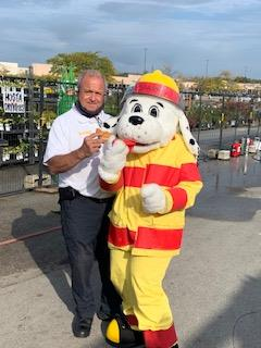 Home Depot Countryside Annual October Fire Safety Month with our Pleasantview Fire Department and Countryside Police Department
