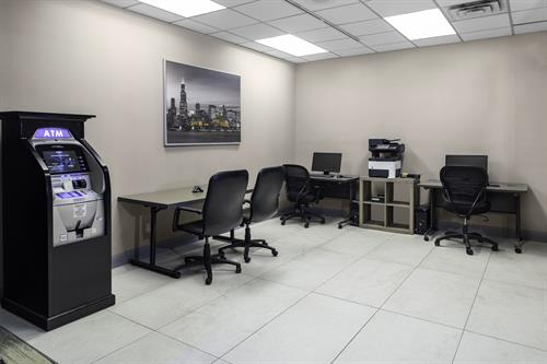 Complete Business Center for all your work needs.