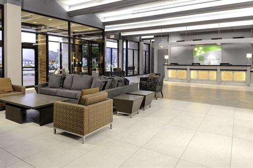 Our bright spacious lobby is a great place to gather!