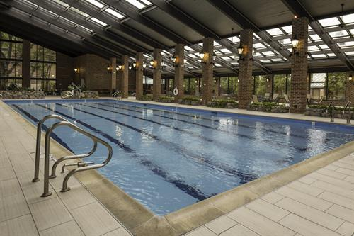 Enjoy a local getaway to Countryside and enjoy the refreshing, indoor Olympic size pool!