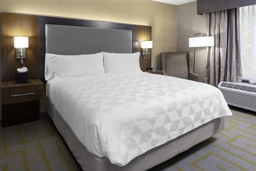 Comfortable Standard Single King Guest Room offers a peaceful nights sleep!