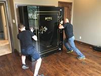 Installing a 72x60 gun safe
