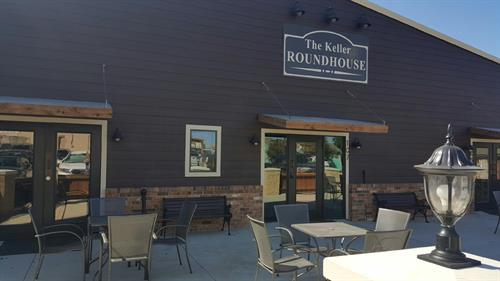 KELLER ROUNDHOUSE EXTERIOR WITH LOVELY PATIO
