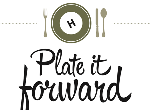 Plate it Forward events to give back to the community and charitable organizations