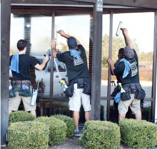Our teams are top notch window cleaners