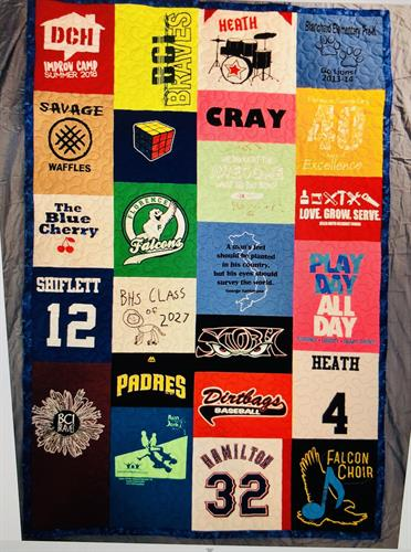 Tshirt quilt from kiddos clothing