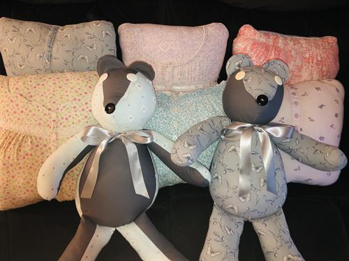 Memory bears and pillows