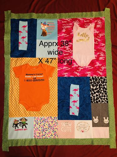 Baby and toddler clothes make such a great quilt