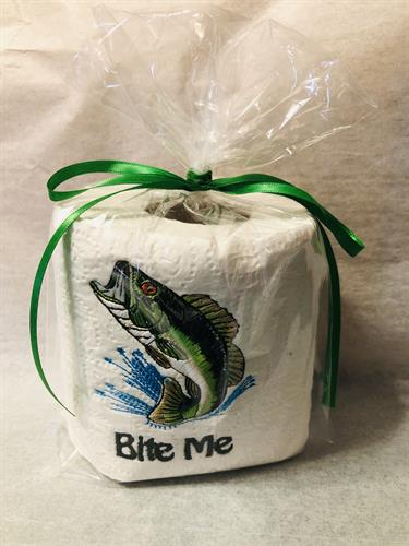 We embroidery ON toilet paper! Perfect gift to the person that has it all??