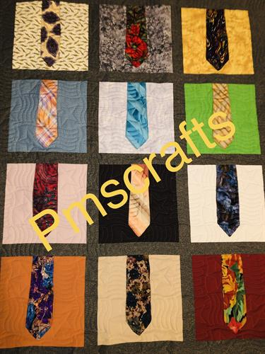 Quilt with ties and dress shirts!