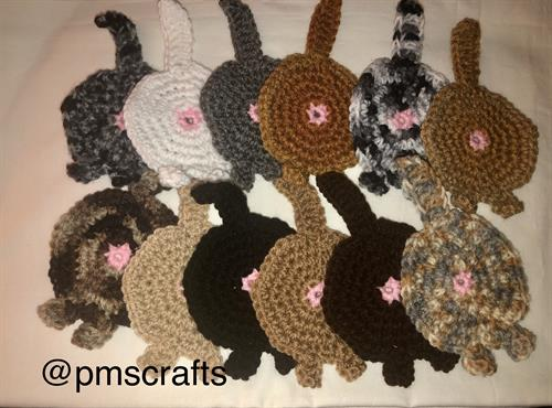 I also crochet cat butt coasters - another fun gift!