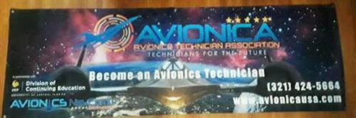 Avionica Entrance Banner
