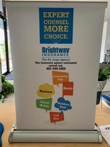 Brightway Insurance Table Top Retractable Banner
