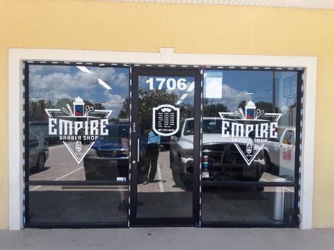 Empire Barber Window Vinyl
