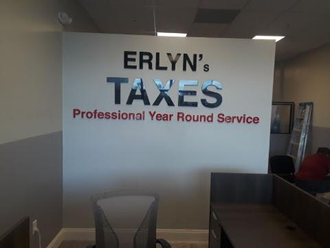 Erlyn's Taxes Dimensional Letters