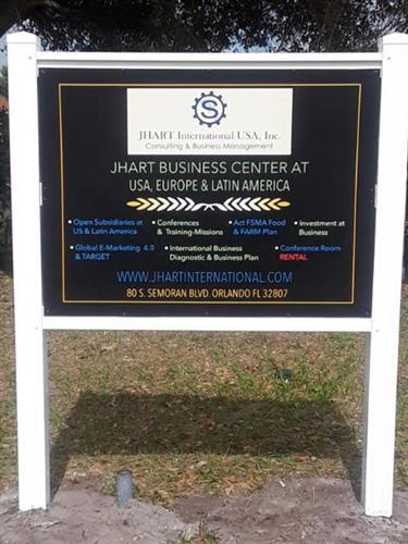 J. Hart Monument Sign