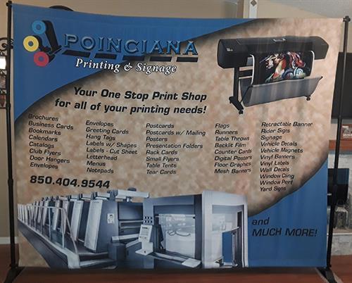Poinciana Printing & Signage Backdrop