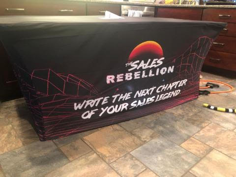 Sales Rebellion Fitted Table Throw
